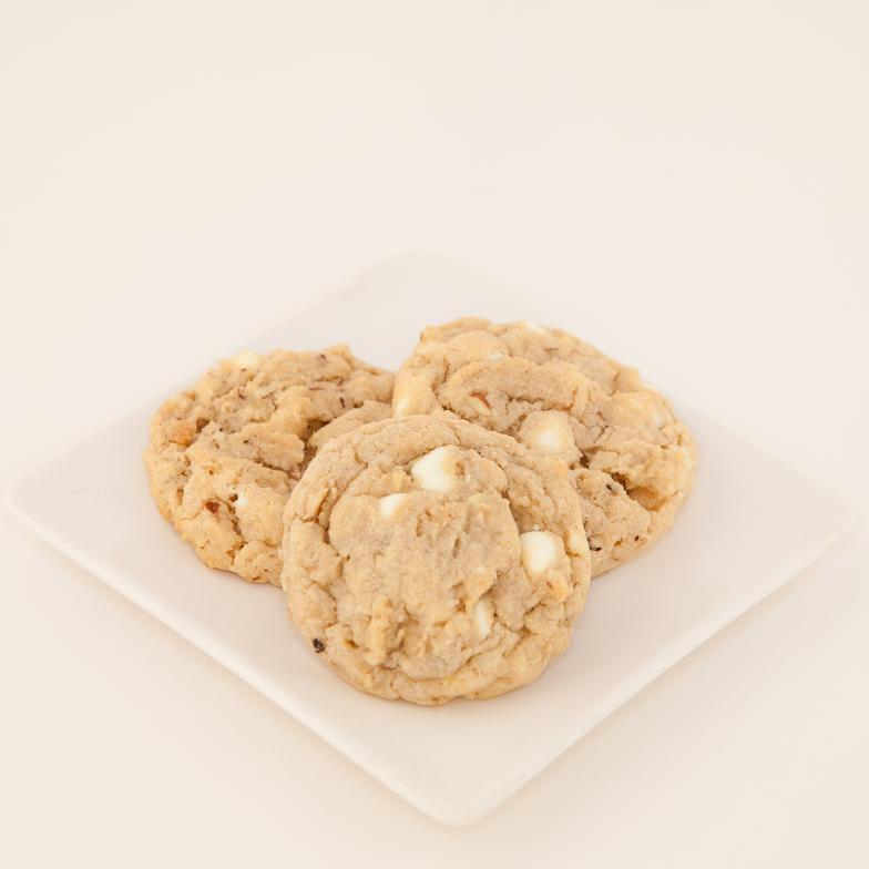 A moist drop cookie with tender chunks of apricots, toasted almonds and white chocolate chips